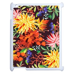 Autumn Flowers Pattern 2 Apple Ipad 2 Case (white) by tarastyle