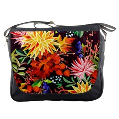 Autumn Flowers Pattern 2 Messenger Bags by tarastyle