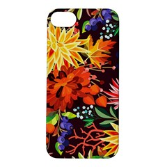 Autumn Flowers Pattern 2 Apple Iphone 5s/ Se Hardshell Case by tarastyle