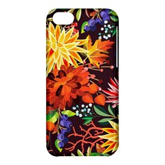 Autumn Flowers Pattern 2 Apple Iphone 5c Hardshell Case by tarastyle