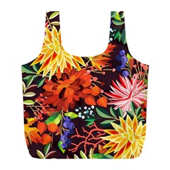 Autumn Flowers Pattern 2 Full Print Recycle Bags (l)  by tarastyle