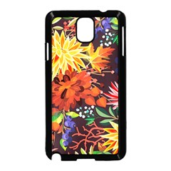 Autumn Flowers Pattern 2 Samsung Galaxy Note 3 Neo Hardshell Case (black) by tarastyle