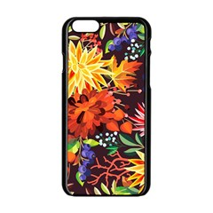 Autumn Flowers Pattern 2 Apple Iphone 6/6s Black Enamel Case by tarastyle