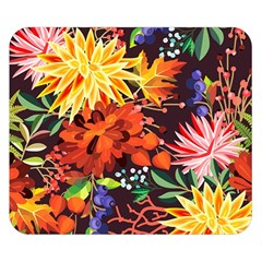 Autumn Flowers Pattern 2 Double Sided Flano Blanket (small)  by tarastyle