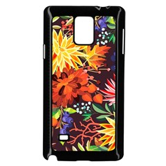 Autumn Flowers Pattern 2 Samsung Galaxy Note 4 Case (black) by tarastyle