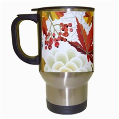 Autumn Flowers Pattern 3 Travel Mugs (white) by tarastyle