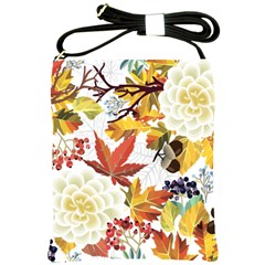 Autumn Flowers Pattern 3 Shoulder Sling Bags by tarastyle