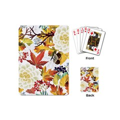 Autumn Flowers Pattern 3 Playing Cards (mini)  by tarastyle