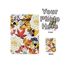Autumn Flowers Pattern 3 Playing Cards 54 (mini)  by tarastyle