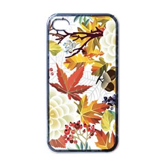 Autumn Flowers Pattern 3 Apple Iphone 4 Case (black) by tarastyle