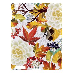 Autumn Flowers Pattern 3 Apple Ipad 3/4 Hardshell Case by tarastyle