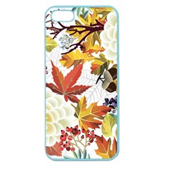 Autumn Flowers Pattern 3 Apple Seamless Iphone 5 Case (color) by tarastyle