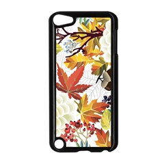 Autumn Flowers Pattern 3 Apple Ipod Touch 5 Case (black) by tarastyle