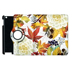 Autumn Flowers Pattern 3 Apple Ipad 3/4 Flip 360 Case by tarastyle