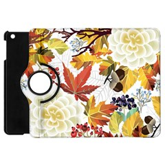 Autumn Flowers Pattern 3 Apple Ipad Mini Flip 360 Case by tarastyle