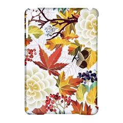 Autumn Flowers Pattern 3 Apple Ipad Mini Hardshell Case (compatible With Smart Cover) by tarastyle