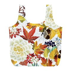 Autumn Flowers Pattern 3 Full Print Recycle Bags (l)  by tarastyle