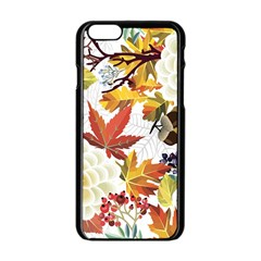 Autumn Flowers Pattern 3 Apple Iphone 6/6s Black Enamel Case by tarastyle