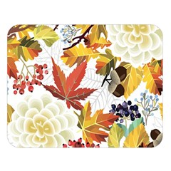Autumn Flowers Pattern 3 Double Sided Flano Blanket (large)  by tarastyle