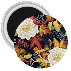 Autumn Flowers Pattern 4 3  Magnets by tarastyle