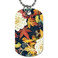 Autumn Flowers Pattern 4 Dog Tag (two Sides) by tarastyle