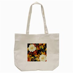 Autumn Flowers Pattern 4 Tote Bag (cream) by tarastyle