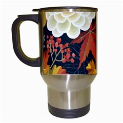 Autumn Flowers Pattern 4 Travel Mugs (white) by tarastyle