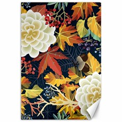 Autumn Flowers Pattern 4 Canvas 12  X 18   by tarastyle