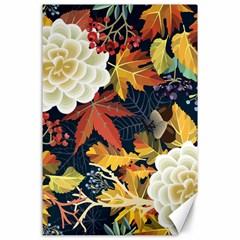 Autumn Flowers Pattern 4 Canvas 24  X 36  by tarastyle