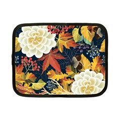 Autumn Flowers Pattern 4 Netbook Case (small)  by tarastyle