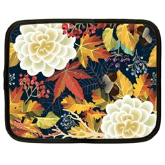 Autumn Flowers Pattern 4 Netbook Case (large) by tarastyle