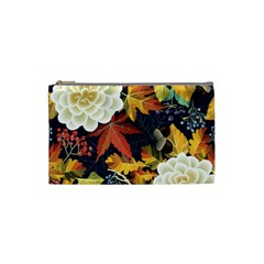 Autumn Flowers Pattern 4 Cosmetic Bag (small)  by tarastyle
