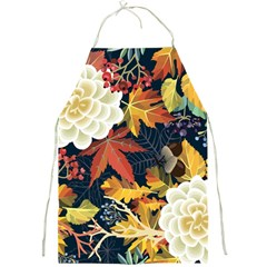 Autumn Flowers Pattern 4 Full Print Aprons by tarastyle