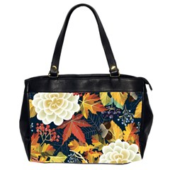 Autumn Flowers Pattern 4 Office Handbags (2 Sides)  by tarastyle