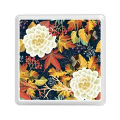 Autumn Flowers Pattern 4 Memory Card Reader (square)  by tarastyle
