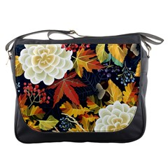 Autumn Flowers Pattern 4 Messenger Bags by tarastyle