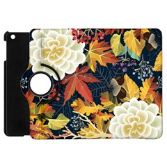 Autumn Flowers Pattern 4 Apple Ipad Mini Flip 360 Case by tarastyle