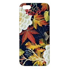 Autumn Flowers Pattern 4 Apple Iphone 5 Premium Hardshell Case by tarastyle