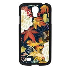 Autumn Flowers Pattern 4 Samsung Galaxy S4 I9500/ I9505 Case (black) by tarastyle