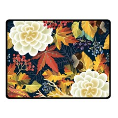 Autumn Flowers Pattern 4 Double Sided Fleece Blanket (small)  by tarastyle