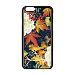 Autumn Flowers Pattern 4 Apple Iphone 6/6s Black Enamel Case by tarastyle
