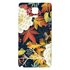 Autumn Flowers Pattern 4 Galaxy Note 4 Back Case by tarastyle