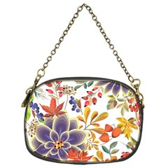 Autumn Flowers Pattern 5 Chain Purses (two Sides)  by tarastyle