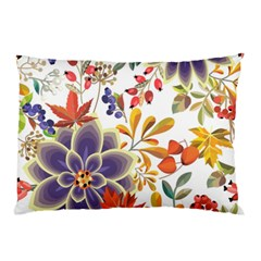 Autumn Flowers Pattern 5 Pillow Case by tarastyle