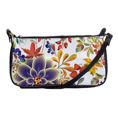 Autumn Flowers Pattern 5 Shoulder Clutch Bags by tarastyle