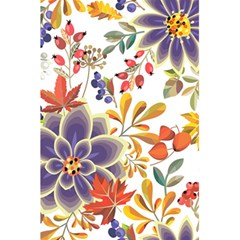 Autumn Flowers Pattern 5 5 5  X 8 5  Notebooks by tarastyle