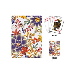 Autumn Flowers Pattern 5 Playing Cards (mini)  by tarastyle