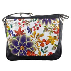 Autumn Flowers Pattern 5 Messenger Bags by tarastyle