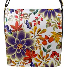 Autumn Flowers Pattern 5 Flap Messenger Bag (s) by tarastyle