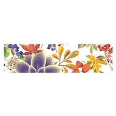 Autumn Flowers Pattern 5 Satin Scarf (oblong) by tarastyle